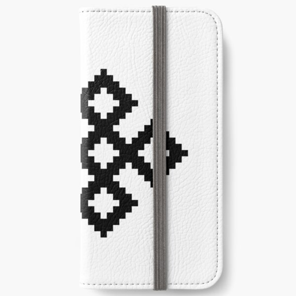 Karma Knot Pattern iPhone Wallet