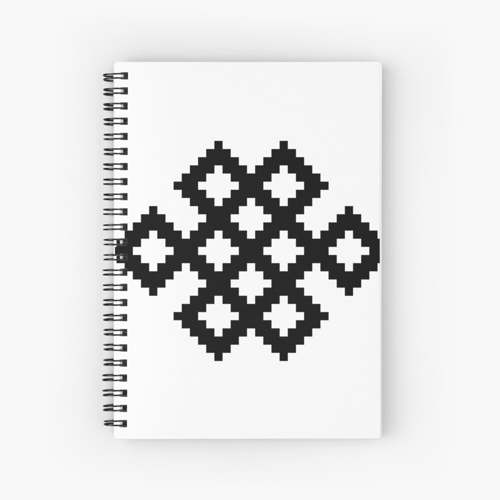Karma Knot Pattern Spiral Notebook