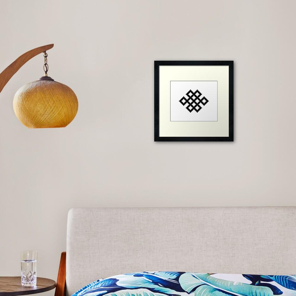 Karma Knot Pattern Framed Art Print