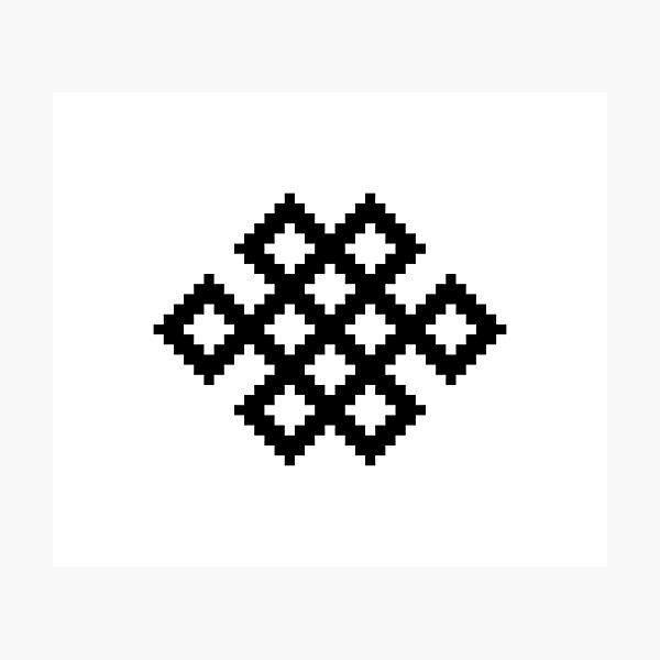 Karma Knot Pattern Photographic Print