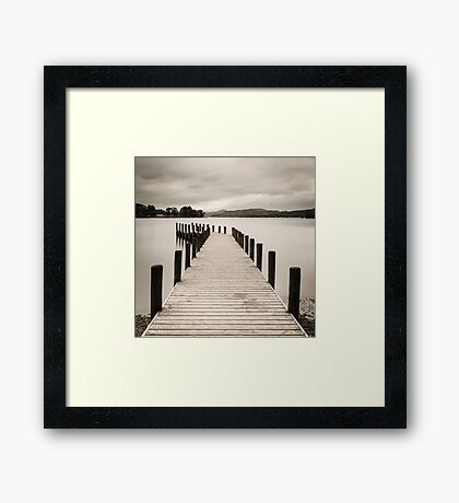 Coniston Jetty Square Framed Print