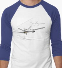 Drones Inbound Men's Baseball ¾ T-Shirt