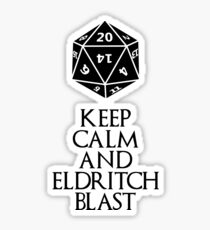 Warlock's shirt Sticker