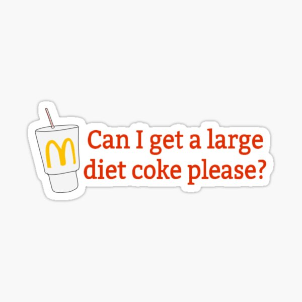 Mcdonalds Diet Coke Sticker