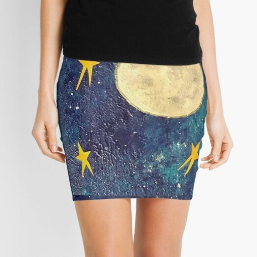 Moon and Stars Mini Skirt