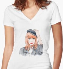 Miss P. Fitted V-Neck T-Shirt