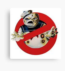 Bustin' Ghosts : The Marshmallow Canvas Print