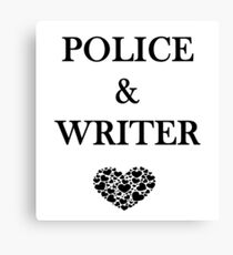 Police Writer Love Canvas Print