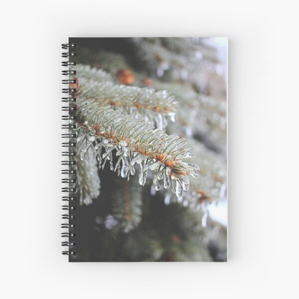 Pine Tree in Ice Storm Spiral Notebook