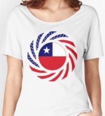 Chilean American Multinational Patriot Flag Series Women's Relaxed Fit T-Shirt