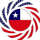 Chilean American Multinational Patriot Flag Series by Carbon-Fibre Media
