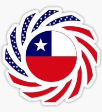Chilean American Multinational Patriot Flag Series Sticker