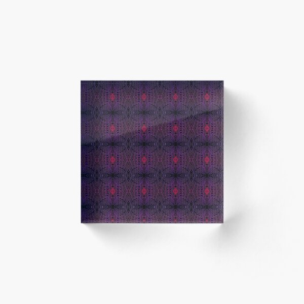 Drenched - Amethyst - Micro Acrylic Block