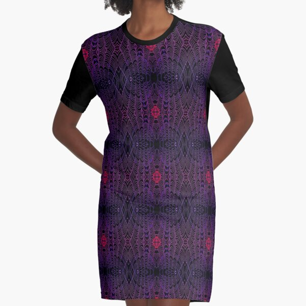 Drenched - Amethyst - Micro Graphic T-Shirt Dress