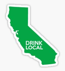 California Drink Local CA Green Sticker