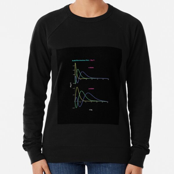 Hydrogen Atom Wave Functions Lightweight Sweatshirt
