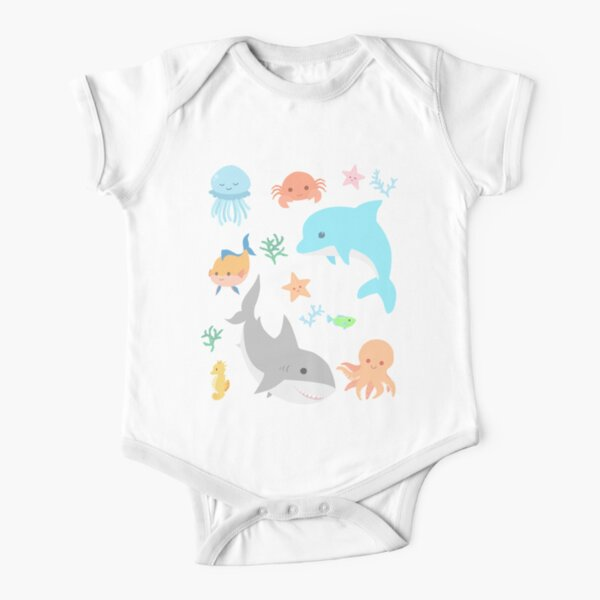 Creatures of the Sea Short Sleeve Baby One-Piece