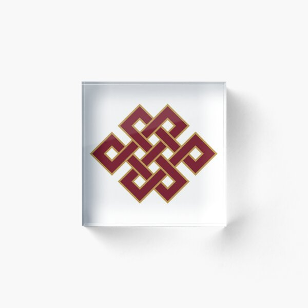 Buddhist Endless Knot Acrylic Block
