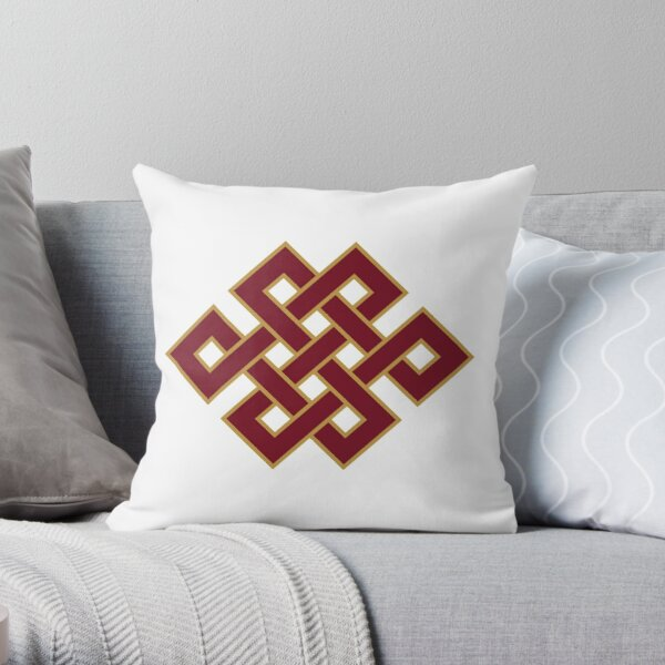 Buddhist Endless Knot Throw Pillow