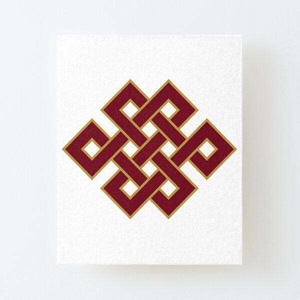 Buddhist Endless Knot Canvas Mounted Print
