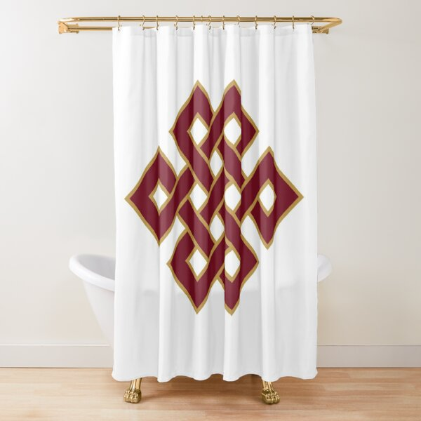 Buddhist Endless Knot Shower Curtain
