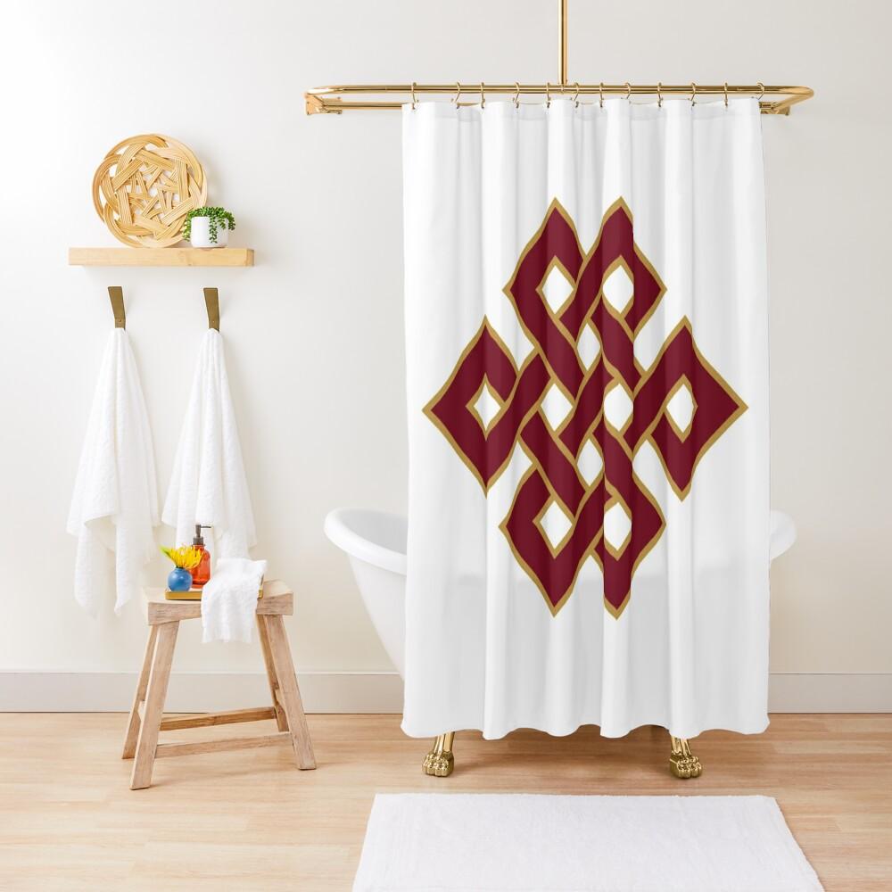 Buddhist Endless Knot Shower Curtain