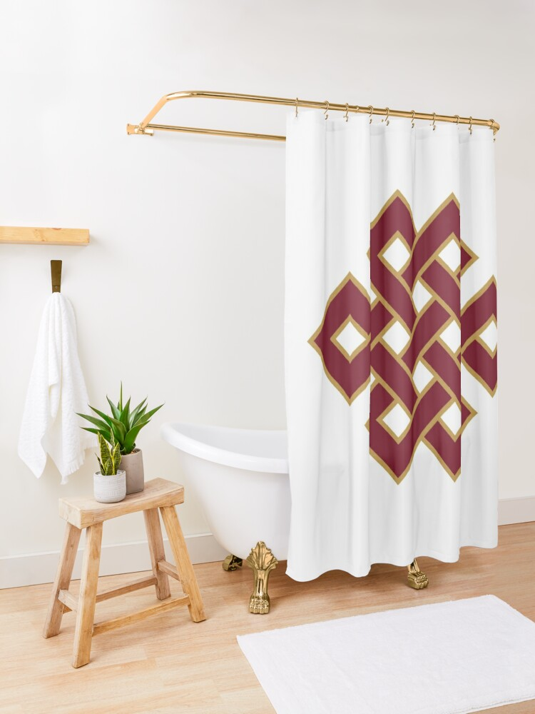 Alternate view of Buddhist Endless Knot Shower Curtain