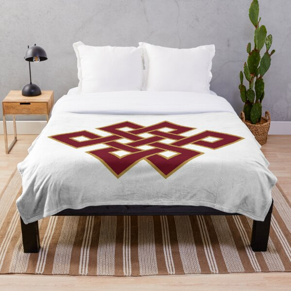 Buddhist Endless Knot Throw Blanket
