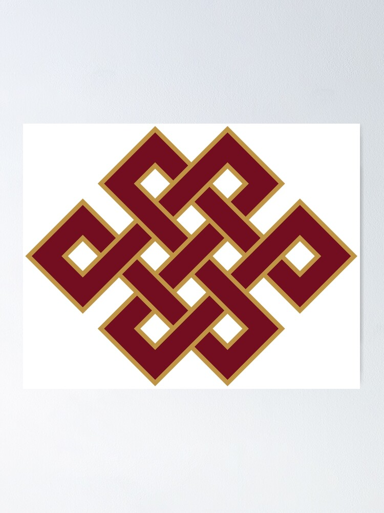 Alternate view of Buddhist Endless Knot Poster