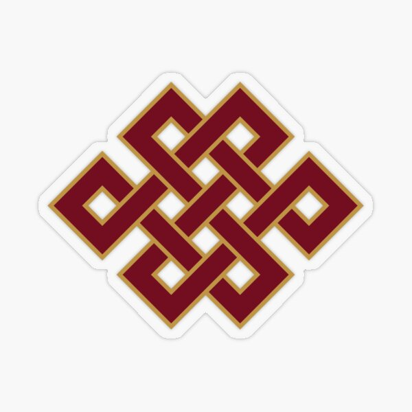 Buddhist Endless Knot Transparent Sticker