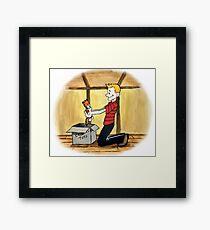 When Calvin will be tall Framed Print