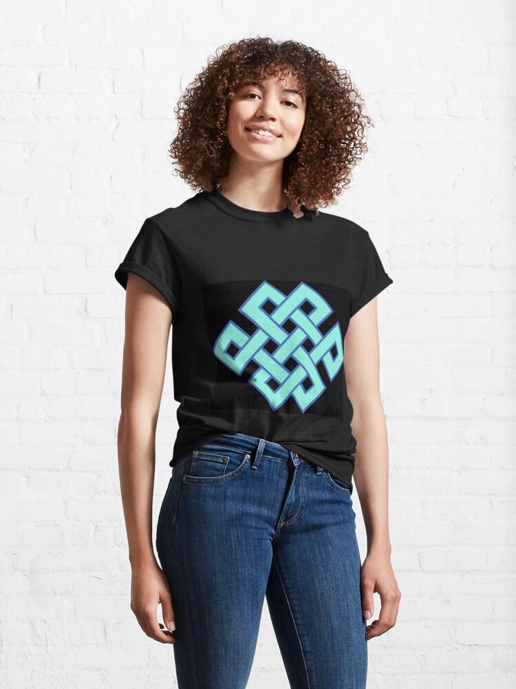 Alternate view of Buddhist Endless Knot Classic T-Shirt