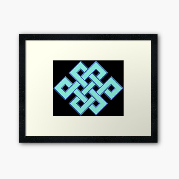 Buddhist Endless Knot Framed Art Print