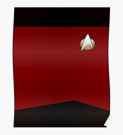 Star Trek TNG Uniform (Red) Poster