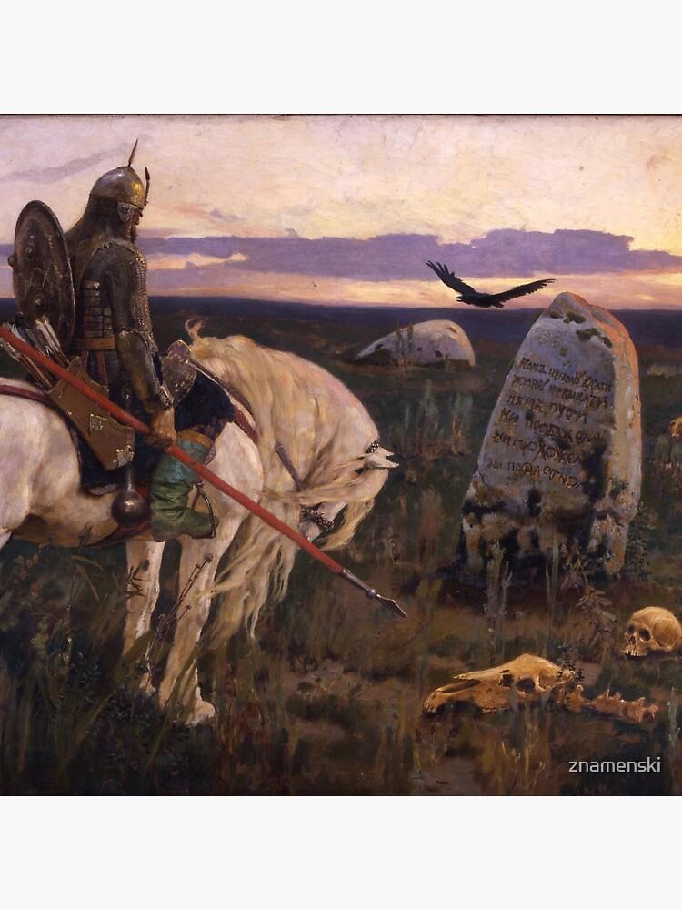 Viktor Mikhailovich Vasnetsov  (1848–1926).  Виктоp Михайлович Васнецов.  Knight at the Crossroads. by znamenski
