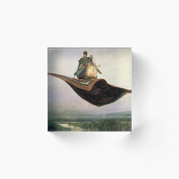 Viktor Mikhailovich Vasnetsov, Виктоp Михайлович Васнецов, Flying Carpet, Ковёр-самолёт, Acrylic Block