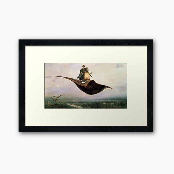 Viktor Mikhailovich Vasnetsov, Виктоp Михайлович Васнецов, Flying Carpet,   Ковёр-самолёт,  Framed Art Print