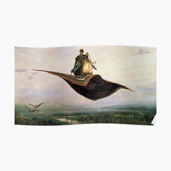 Viktor Mikhailovich Vasnetsov, Виктоp Михайлович Васнецов, Flying Carpet,   Ковёр-самолёт,  Poster