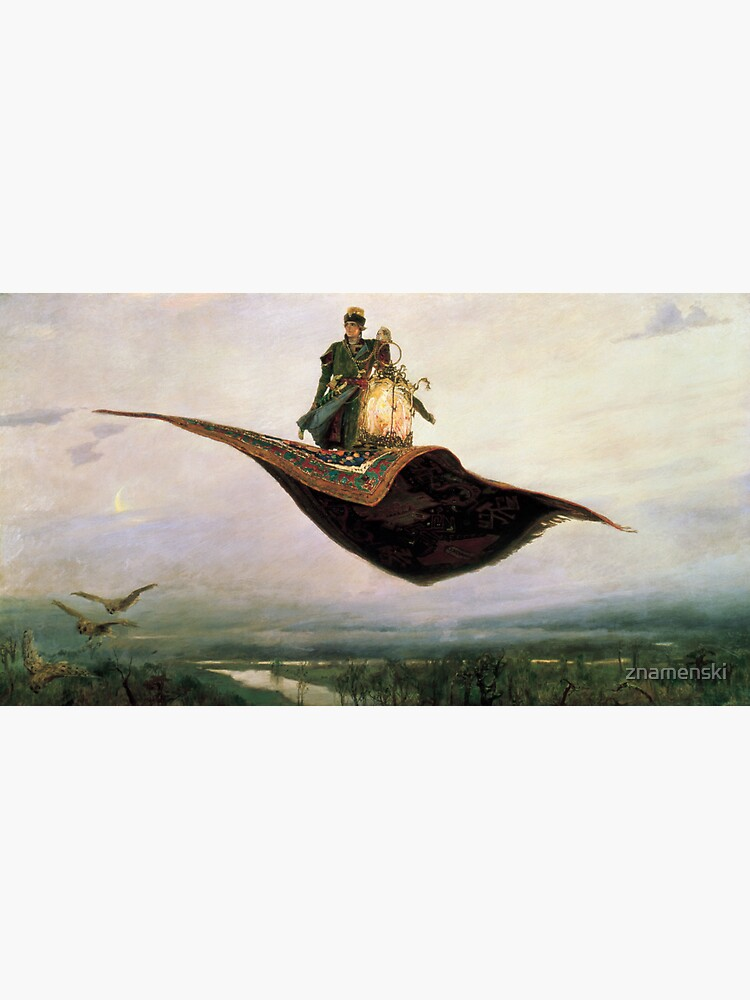Viktor Mikhailovich Vasnetsov, Виктоp Михайлович Васнецов, Flying Carpet,   Ковёр-самолёт,  by znamenski