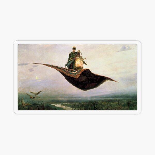 Viktor Mikhailovich Vasnetsov, Виктоp Михайлович Васнецов, Flying Carpet,   Ковёр-самолёт,  Transparent Sticker
