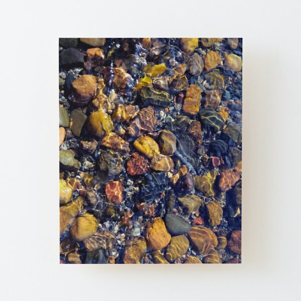 Prismed Pebbles | Underwater Lake Photography Wood Mounted Print