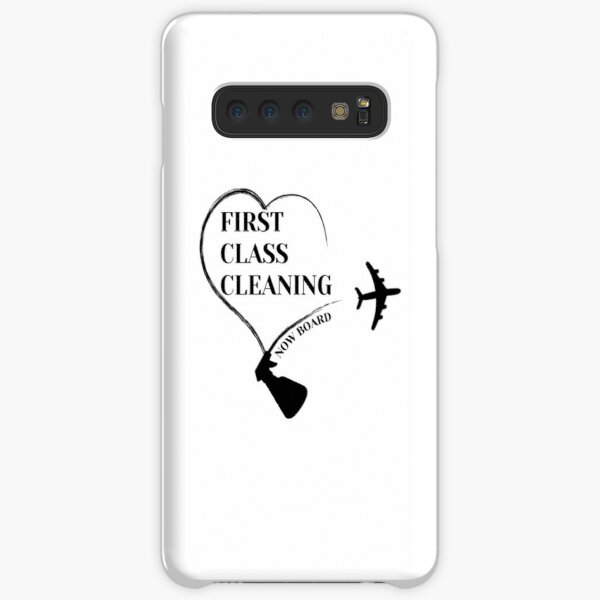 First Class Cleaning Inspirational Housekeeping Gift T-Shirt   Samsung Galaxy Snap Case