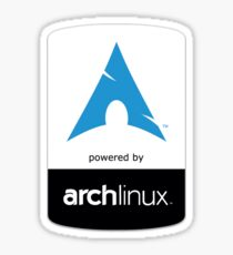 powered by arch Sticker