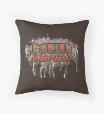 Mud Maniac II Throw Pillow