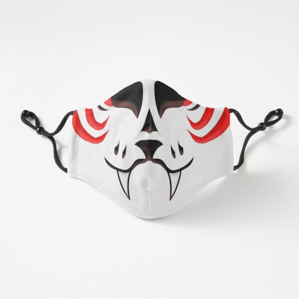 Kitsune Face - Red Fitted 3-Layer