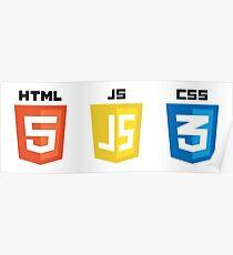 HTML JS CSS Poster