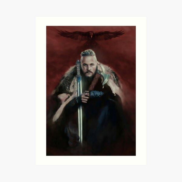 Vikings Series King Ragnar Lothbrok Paiting Impression artistique