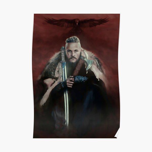 Serie Vikings King Ragnar Lothbrok Paiting Póster