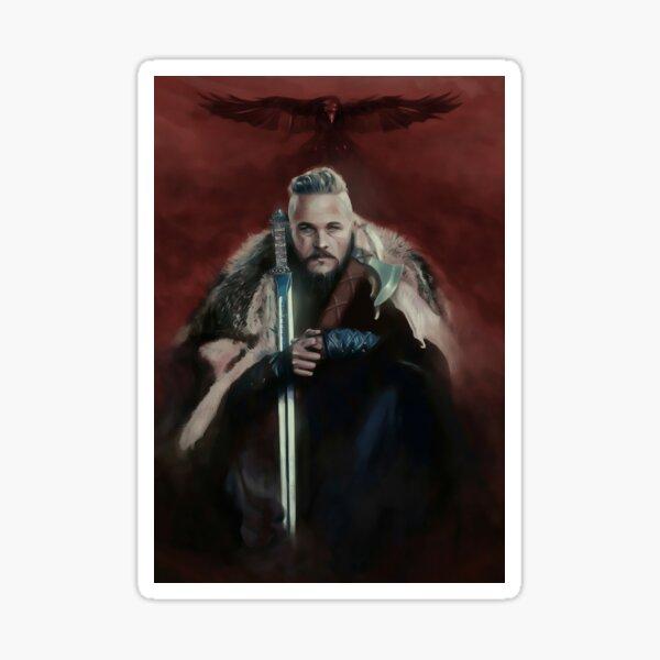 Vikings Series King Ragnar Lothbrok Paiting Sticker