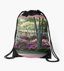 The Azalea House and Gardens Drawstring Bag
